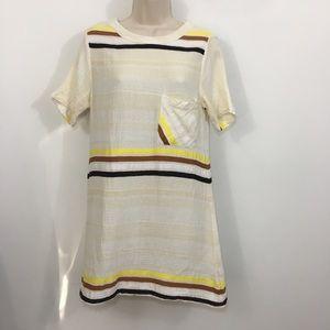 Ace & Jig 100% cotton striped shirt dress medium